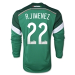 Mexico 2014 R. JIMENEZ Jersey de Futbol Local Mangas Largas