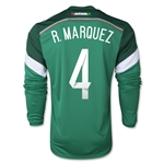 Mexico 2014 R. MARQUEZ Jersey de Futbol Local Mangas Largas