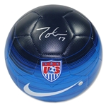 Tobin Heath Signed Team USA Blue Soccer Ball
