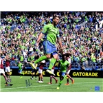 Clint Dempsey Signed Seattle Sounders Celebration 16x20 Print