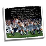 Mia Hamm Facsimilie Winning World Cup Stretched 16x20