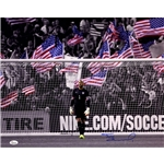 Tim Howard Signed Standing in Goal with American Flag