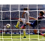 Carli Lloyd Signed 2015 World Cup Goal Back of the Net Goal Shot Photo