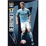Manchester City De Bruyne Poster