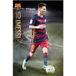 Barcelona Messi Action Poster