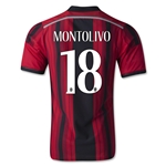 AC Milan 14/15 MONTOLIVO Authentic Home Soccer Jersey