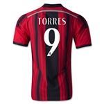 AC Milan 14/15 TORRES Authentic Home Soccer Jersey
