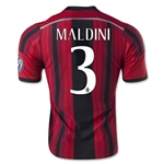 AC Milan 14/15 MALDINI Alternative Home Soccer Jersey
