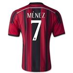 AC Milan 14/15 MENEZ Alternate Home Soccer Jersey