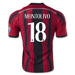 AC Milan 14/15 MONTOLIVO Alternative Home Soccer Jersey