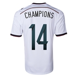 Germany 2014 CHAMPIONS Home Soccer Jersey