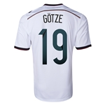 Germany 2014 GOTZE Home Soccer Jersey