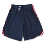 Yale 8 Mesh Lacrosse Shorts w/ 3 Stripe Braid (Navy/Red)