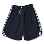 Yale 8 Mesh Lacrosse Shorts w/ 3 Stripe Braid (Navy/White)