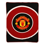 Manchester United Bullseye Fleece Blanket
