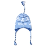 Fleece Lined Soccer Knit Hat (Sky)