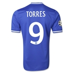 Chelsea 13/14 TORRES Authentic UCL Home Soccer Jersey