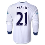 Chelsea 13/14 21 MATIC LS Away Soccer Jersey