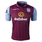 Aston Villa 14/15 Home Soccer Jersey w/ FA Cup Patch