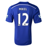 Chelsea 14/15 12 MIKEL Home Soccer Jersey