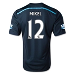 Chelsea 14/15 12 MIKEL Third Soccer Jersey