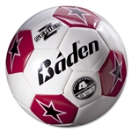 Baden Z-Series Training Soccer Ball (White/Scarlet)