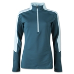 adidas Women's Techfit CW Half-Zip (Green)
