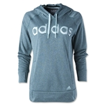 adidas Women's Ultimate Fleece Logo Hoody (Green)