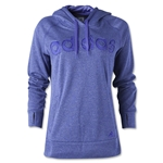 adidas Women's Ultimate Fleece Logo Hoody (Purple)
