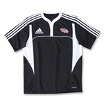adidas Las Vegas Invitational Three Stripe II Rugby Jersey (Black/White)