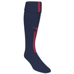 Diadora Azzurri Soccer Socks (Navy/Red)
