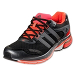 adidas Supernova Glide 5 Running Shoe (Black/Neo Iron Metallic/Infrared)