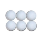 White 6-pack of Lacrosse Balls