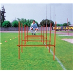 Goal Sporting Goods Outdoor Agility Hurdles, Set of 8 (Red)