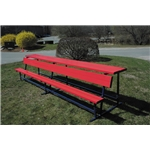 Goal Sporting Goods Bench w/ Shelf-Powder Coated (Red)