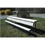 Goal Sporting Goods Bench w/ Shelf-Powder Coated (White)