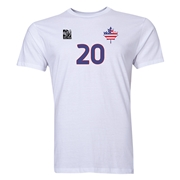 USA FIFA Women's World Cup Canada 2015(TM) Player Men's Fashion T-Shirt (White)