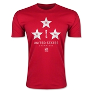 USA FIFA Women's World Cup Champions Men's Fashion T-Shirt (Red)
