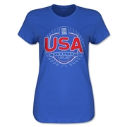 USA FIFA Women's World Cup Finalist Women's T-Shirt (Royal)