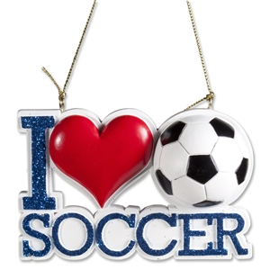 I Heart Soccer Ornament