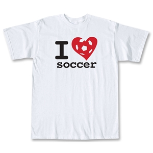 I Love Soccer T-Shirt (White)