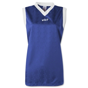 Vici Women's Sleeveless Turin Soccer Jersey (Royal)