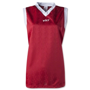 Vici Women's Sleeveless Turin Soccer Jersey (Red)