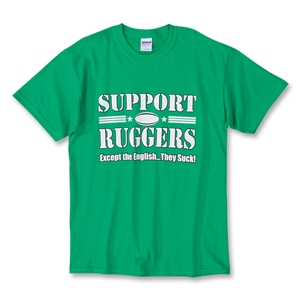 Ireland vs England Support Ruggers SS T-Shirt