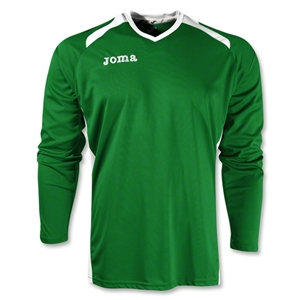 Joma Champion II Long Sleeve Jersey (Green/Wht)