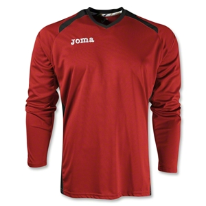 Joma Champion II Long Sleeve Jersey (Red/Blk)