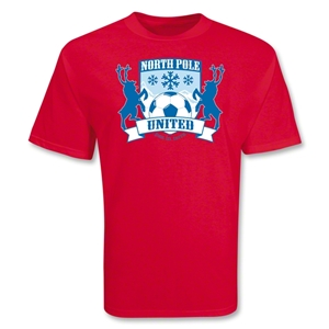 North Pole United Holiday Soccer T-Shirt (red)