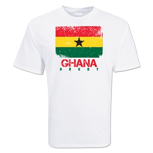 Ghana Country Rugby Flag T-Shirt