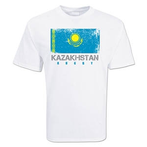 Kazakhstan Country Rugby Flag T-Shirt