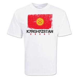 Kyrghyzstan Country Rugby Flag T-Shirt